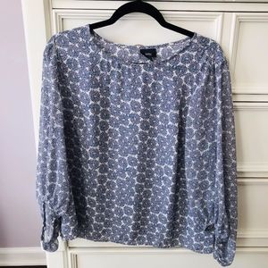 Mossimo Blue/White/Pink Top Size XL